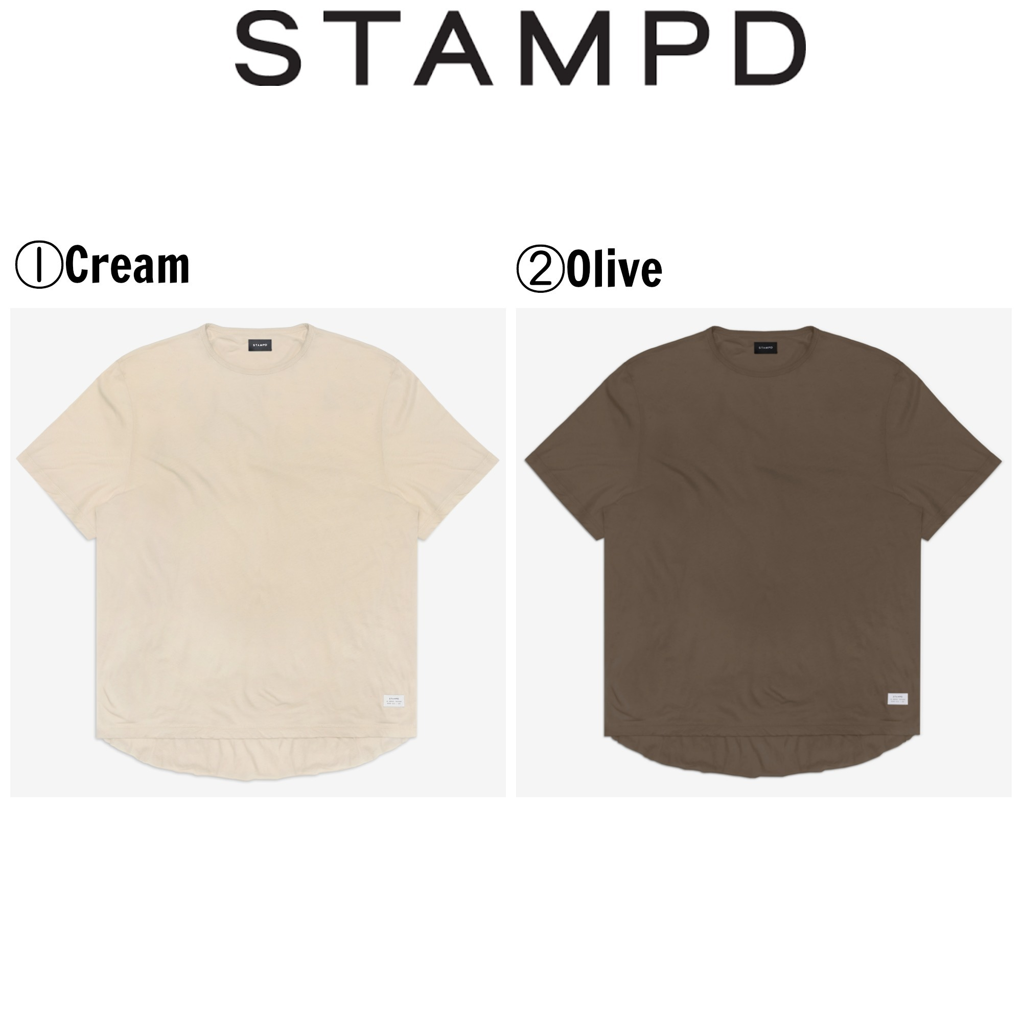 【Stampd' LA】☆17SS新作☆MT DOUBLE LAYER SCALLOP TEE