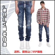 D SQUARED2(ディースクエアード) デニム・ジーパン 新作★VIP価格 D SQUARED 2  DESTROYED SLIM FIT TAPERED JEANS