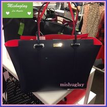 【kate spade】生産終了★レザートートarbour hill annelle★紺