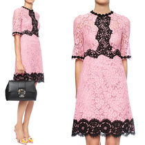 17SS DG900 FLORAL LACE FLARE DRESS