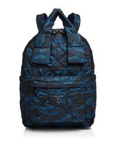 MARC JACOBS☆Knotカモ Large Quilted Nylon Backpack