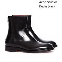ACNE Kevin leather boots black バックファスナーレザーブーツ