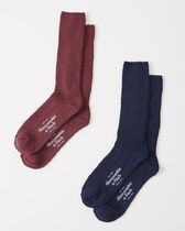 Abercrombie & Fitch(アバクロ) 靴下・ソックス 【送料無料】Abercrombie&Fitch(アバクロ)2-PACK CAMP SOCKS