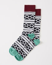 Abercrombie & Fitch(アバクロ) 靴下・ソックス 【送料無料】Abercrombie&Fitch(アバクロ)CASUAL SOCKS