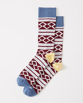Abercrombie & Fitch(アバクロ) 靴下・ソックス 【送料無料】Abercrombie&Fitch(アバクロ)  CASUAL SOCKS