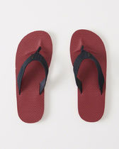 Abercrombie & Fitch(アバクロ) サンダル 【送料無料】Abercrombie&Fitch  MIXED MEDIA RUBBER FLIP FLOPS