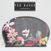 TED BAKER(テッドベイカー ) メイクポーチ 大人気★TED BAKER★フローラル メイクポーチ/ブラック