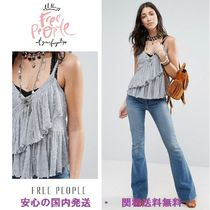 Free People Melbourne Solid Frill Tank Top♪