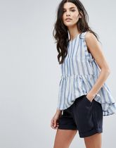 ASOS(エイソス) その他 デザイナーズ Y.A.S Stripe Ruffle Top