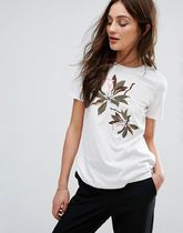 ASOS(エイソス) その他 デザイナーズ Y.A.S Floral Embroidered Jersey T-Shirt