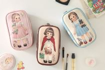 afrocat(アフロキャット) メイクポーチ 【afrocat】Paper Doll Mate Metallic leather beauty pouch