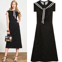 17SS DG915 'MARINA' MIDI DRESS WITH JEWEL BUTTON