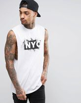 ☆関税送料無料☆ASOS Longline Sleeveless T-Shirt 白