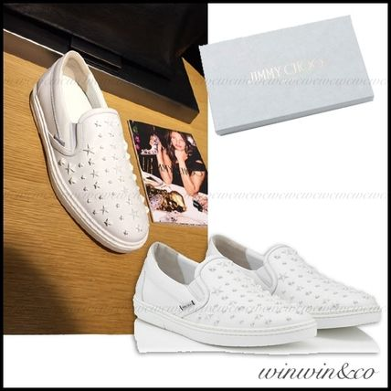 JIMMYCHOO star studded with Slip-on sneakers