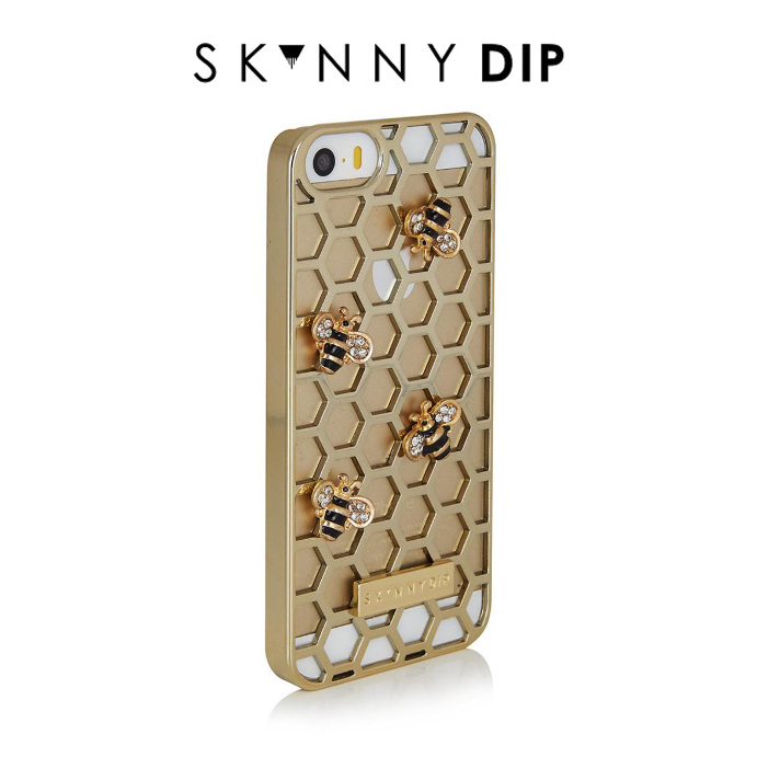 国内在庫有【1-3日着】SKINNYDIP iPhone5/5s/SEケース BEE GOLD