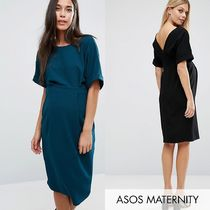 ASOS(エイソス) マタニティウェア ★関税送込★ASOS★Maternity Wiggle Dress With V Back 3色