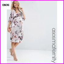 ASOS(エイソス) マタニティウェア ★関税送込★ASOS★Maternity Pencil Dress In Soft Mink Floral