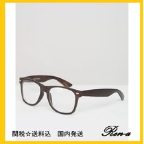 ASOS(エイソス) メガネ 関送無料・国内発送Jeepers Peepers★ダークブラウン グラス