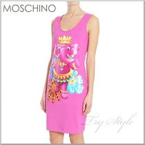 17SS★MOSCHINO エレファント プリント タンク ワンピース