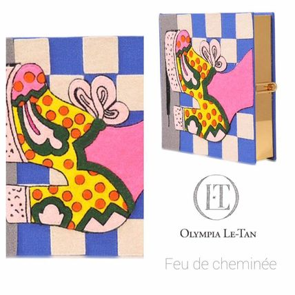 Psychedelic shoes clutch bag Olympia Le Tan