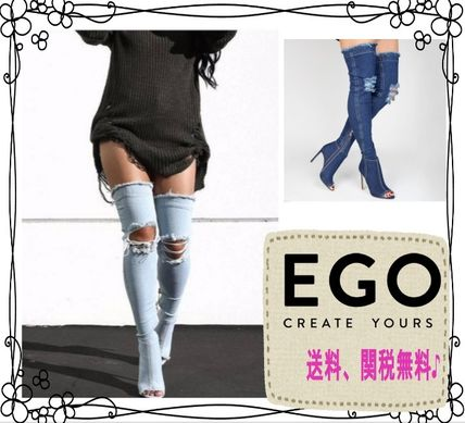 EGO Shoes Classic sold out inevitable denim knee high boots