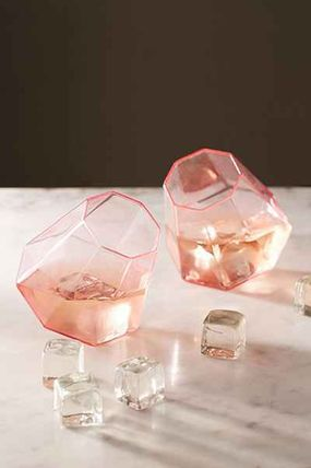 UO Rose Diamond glass, set of 2