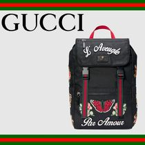 GUCCI(グッチ) バックパック・リュック GUCCI (グッチ) Embroidered technical canvas backpack バッグ