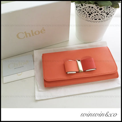 The next day arrival gifts too Chloe LEATHER BOW flap long