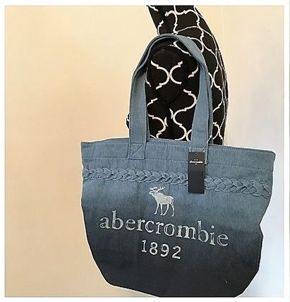 Abercrombie & Fitch キッズ・ベビー・マタニティその他 A&F   大人も使える denim tote bag♪(3)