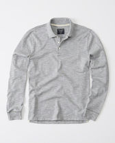 Abercrombie & Fitch(アバクロ) ポロシャツ 【送料無料】Abercrombie&Fitch  LONG-SLEEVE SWEATER KNIT POLO