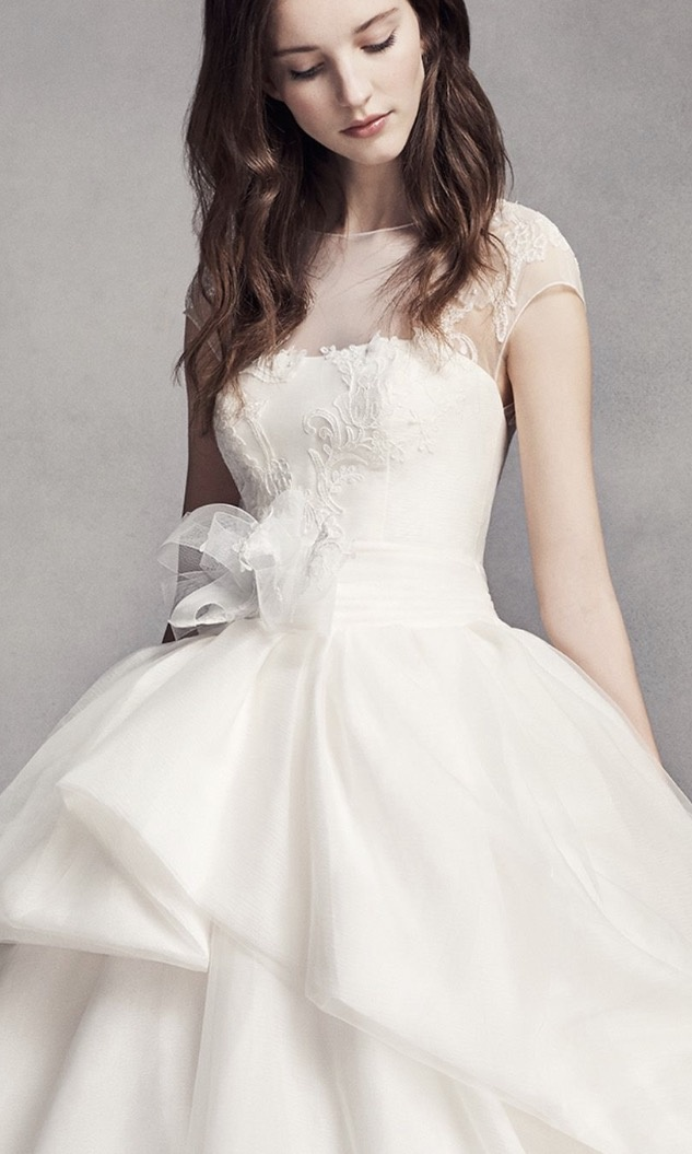 セール★関税込&追跡便★Vera Wang Lace Illusion Wedding Dress