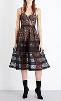【国内送】SELF PORTRAIT☆Paisley lace midi ワンピース