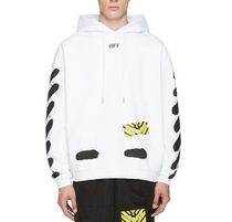 Off-White(オフホワイト) パーカー 【関税負担】 OFF WHITE 17SS SPRAY HOODIE WHITE