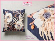 Anthropologie(アンソロポロジー) クッション・クッションカバー 17SS☆最安値*関税送料込【Anthro】Embroidered Samia Pillow