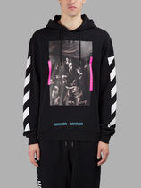 Off-White(オフホワイト) パーカー 【関税負担】  OFF WHITE 17SS DIAG CARAVAGGIO HOODIE