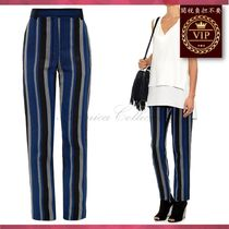 ★在庫処分セール★ Striped sponge crepe trousers