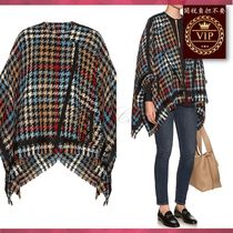 ETRO(エトロ) ポンチョ・ケープ ★在庫処分セール★ Hound's-tooth checked wool-blend cape