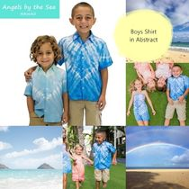 Angels by the Sea Hawaii(エンジェルズバイザシーハワイ) キッズウェア 3色 Boys Shirt In Abstract ☆2-12才 シャツfromハワイ K-A310