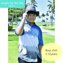 Angels by the Sea Hawaii(エンジェルズバイザシーハワイ) キッズウェア ボーイズ Shirt in Ombre  ☆2-12才 シャツ fromハワイ K-O310