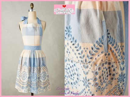 17th SS * Anthro Eyelet Gingham Apron