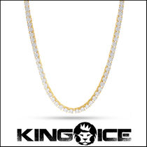 """King Ice"" 5mm, 14K Gold Single Row Pharaoh ネックレス"