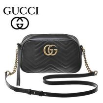 17春夏新作 ☆Gucci☆ GG MARMONT Matelaasse Shoulder Bag♪