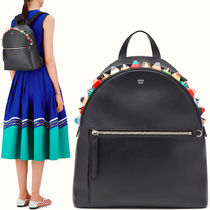 FE1377 MULTICOLOR STUDDED BACKPACK