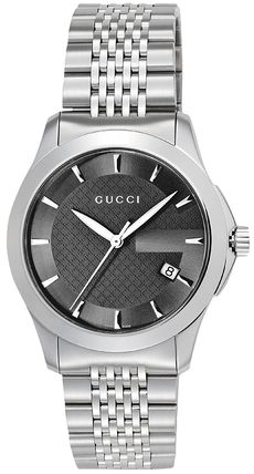 GUCCI watches Timeless men's YA126402 black