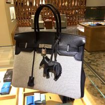 "HERMES EDT 2017★【SAC Birkin 35""SWIFT NOIRxTOILE GM""】★ A"