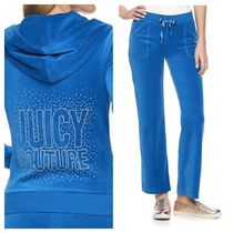 JUICY COUTURE(ジューシークチュール) セットアップ ☆JUICY COUTURE お洒落なベロアセットアップ(Olympian Blue)☆