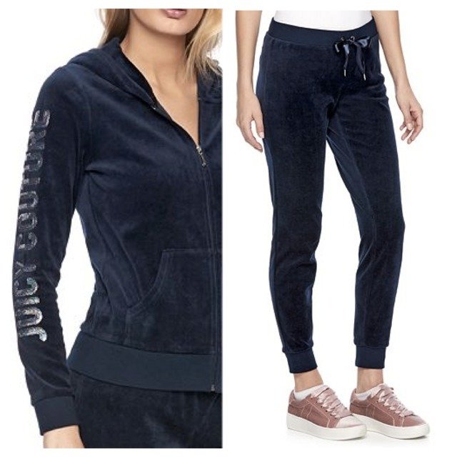 ☆JUICY COUTURE お洒落なベロアセットアップ(Regal Blue)☆