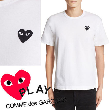 -COMME des GARCONS PLAY-tip black heart Tee white