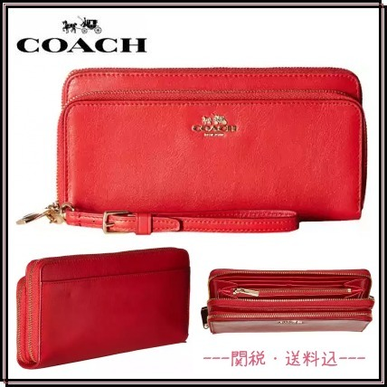 【SALE】*Coach*Smooth Leather ウォレット★関税・送料込★