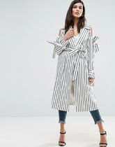 ASOS(エイソス) その他 デニム ASOS Draped Coat in Stripe with Bows